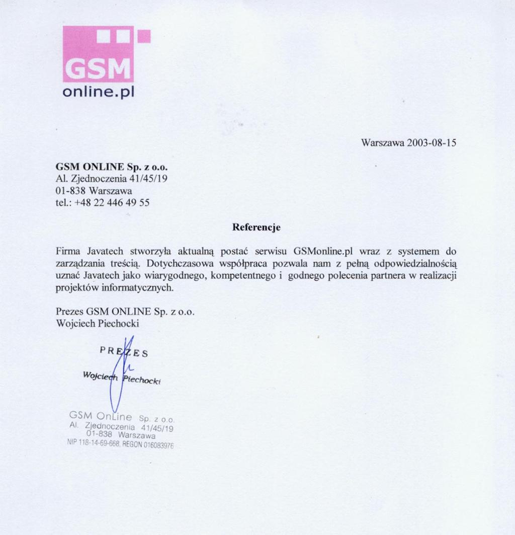 GSM ONLINE SP. z o.o. - Serwis GSMonline.pl