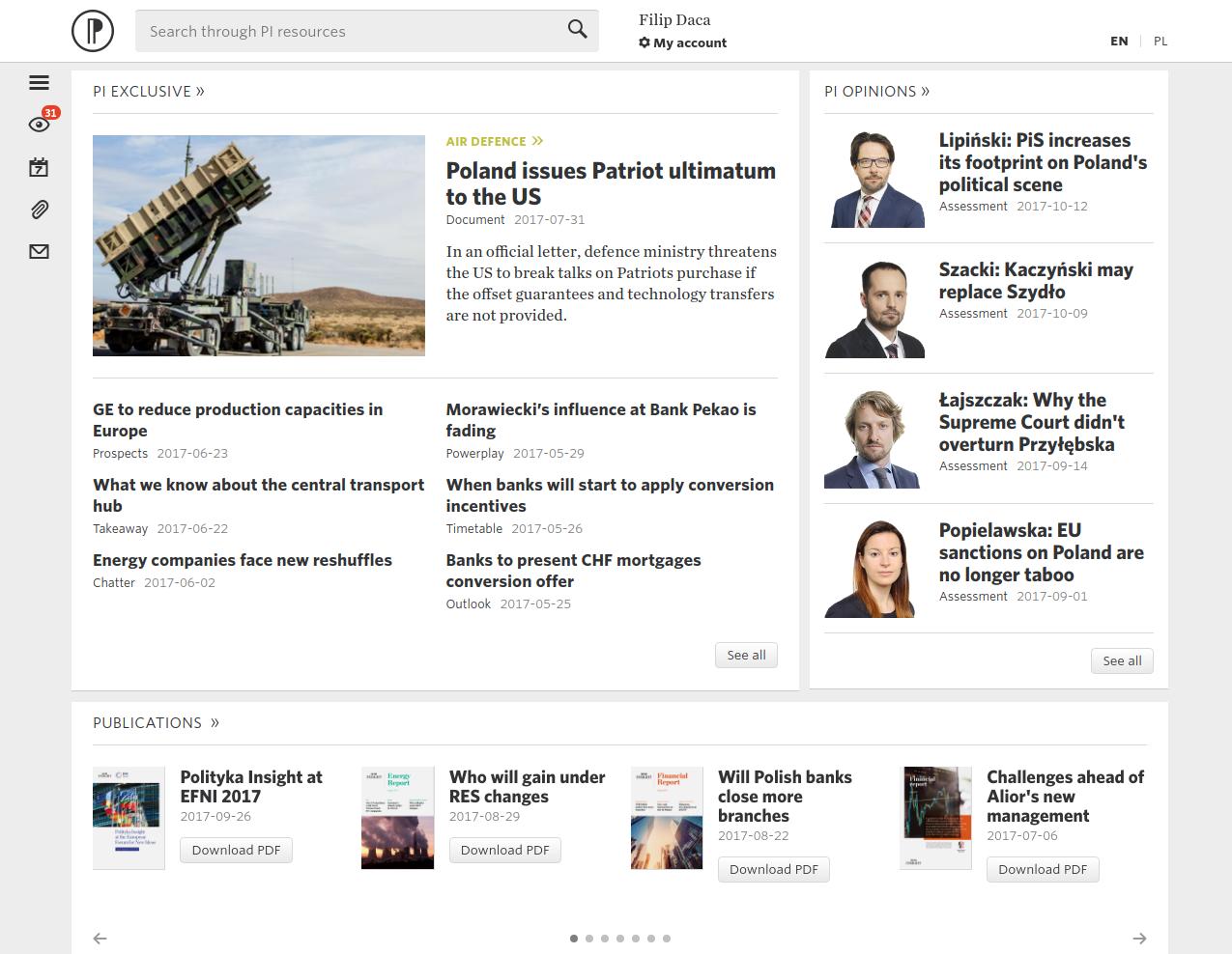 Polityka Insight screenshot