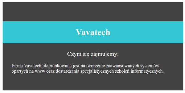 Przykład z użyciem CSS
